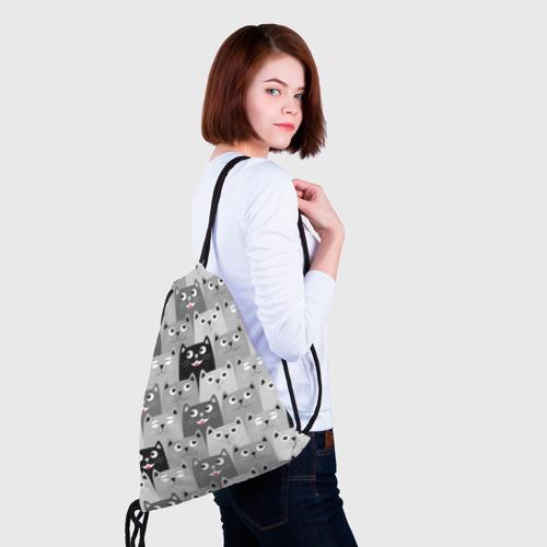 Рюкзак-мешок 3D Котейки Фото 01