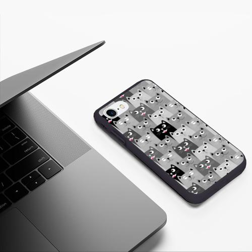 Чехол для iPhone 7/8 матовый Котейки Фото 01