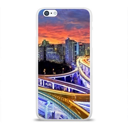 Чехол для Apple iPhone 6Plus/6SPlus силиконовый глянцевый  Фото 01, Ночные дороги