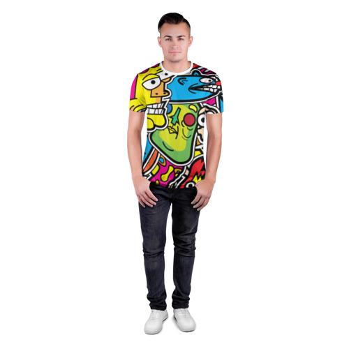 Мужская футболка 3D спортивная  Фото 04, Стикербомбинг