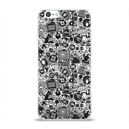 Чехол для Apple iPhone 6 силиконовый глянцевый  Фото 01, Стикербомбинг