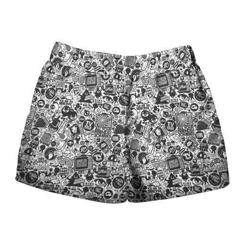 Женские шорты 3D  Фото 02, Стикербомбинг