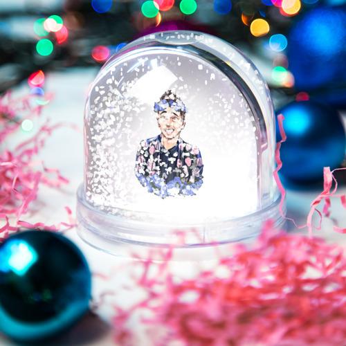 Водяной шар со снегом  Фото 04, Blue