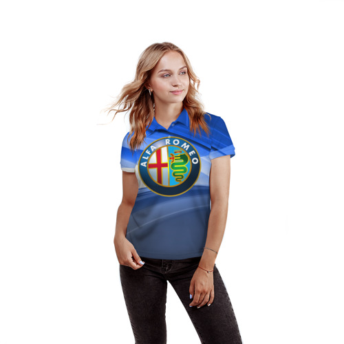 Женская рубашка поло 3D  Фото 03, Alfa Romeo