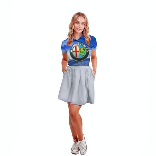 Женская рубашка поло 3D  Фото 04, Alfa Romeo