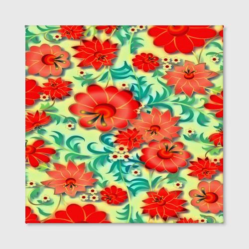 Холст квадратный  Фото 02, Весенние цветочки