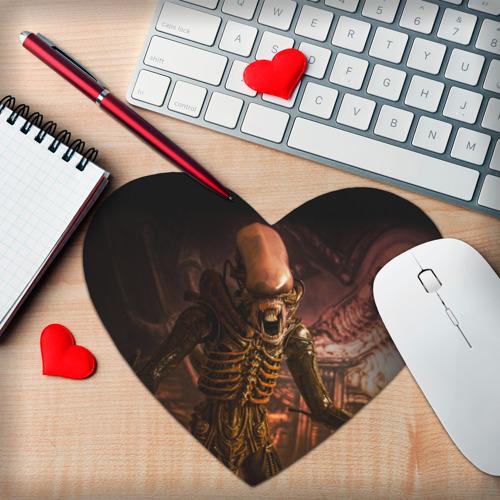 Коврик для мыши сердце  Фото 02, Alien