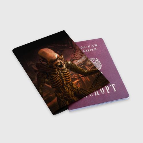 Обложка для паспорта матовая кожа  Фото 03, Alien
