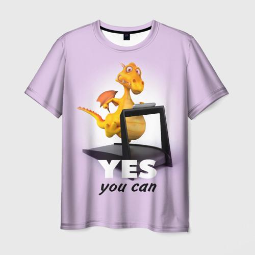 Мужская футболка 3D  Фото 03, Да, ты можешь!