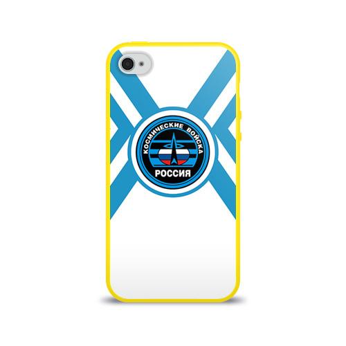 Чехол для Apple iPhone 4/4S силиконовый глянцевый Космические войска 19 Фото 01