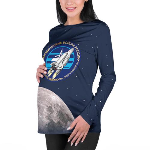 Женский лонгслив 3D для беременных  Фото 01, Космические войска 16