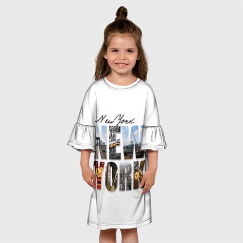Детское платье 3D  Фото 01, Улицы Нью-Йорка