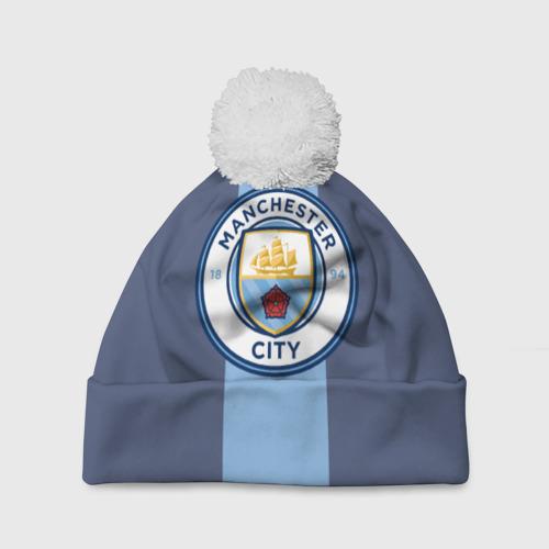 Шапка 3D c помпоном Манчестер Сити