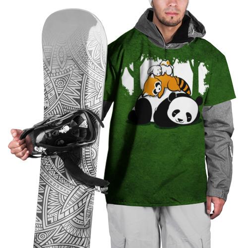 Накидка на куртку 3D  Фото 01, Милая панда