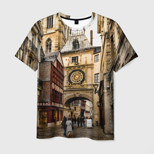 Мужская футболка 3D  Фото 03, Улицы Парижа
