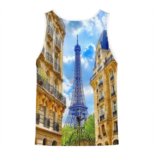Мужская майка 3D  Фото 02, Париж, Эйфелева башня