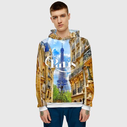 Мужская толстовка 3D  Фото 03, Париж, Эйфелева башня