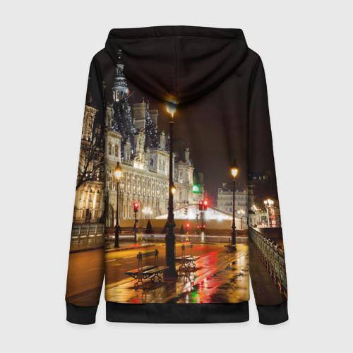 Женская толстовка 3D на молнии Улицы Парижа Фото 01