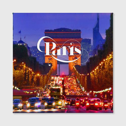 Холст квадратный  Фото 02, Улицы Парижа
