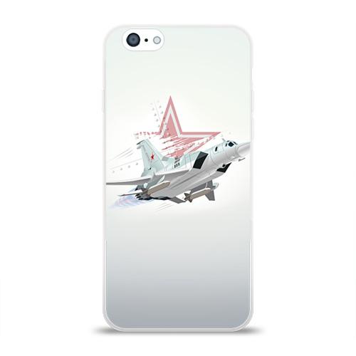 Чехол для Apple iPhone 6 силиконовый глянцевый  Фото 01, Ту-22