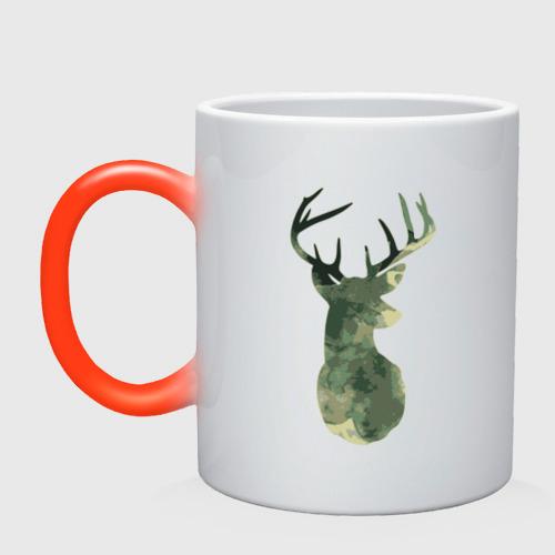 Кружка хамелеон  Фото 01, Deer Aquarelle