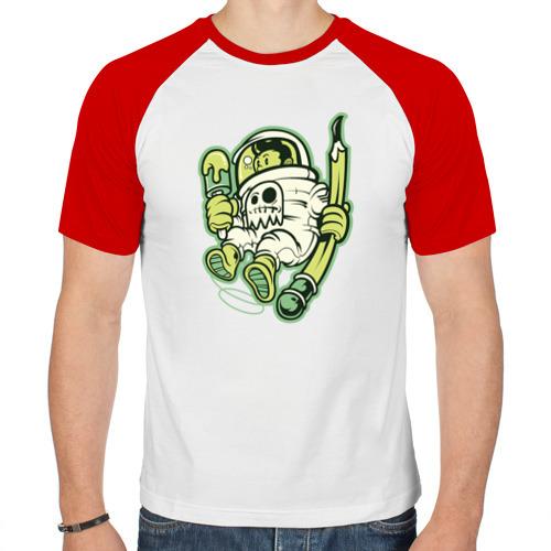 Мужская футболка реглан  Фото 01, Художник-космонавт