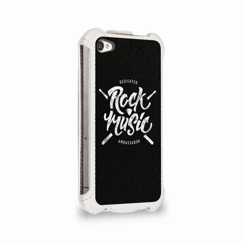 Чехол для Apple iPhone 4/4S flip  Фото 02, Rock Music
