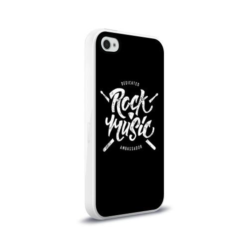 Чехол для Apple iPhone 4/4S силиконовый глянцевый  Фото 02, Rock Music