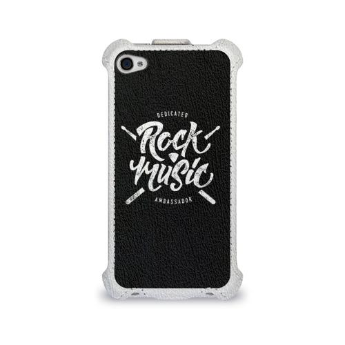 Чехол для Apple iPhone 4/4S flip  Фото 01, Rock Music