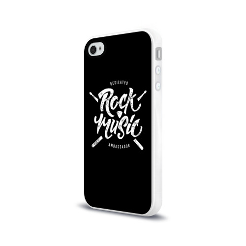Чехол для Apple iPhone 4/4S силиконовый глянцевый  Фото 03, Rock Music