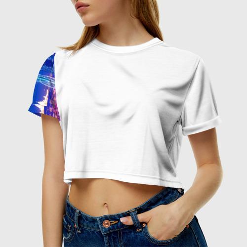 Женская футболка 3D укороченная  Фото 01, Москва