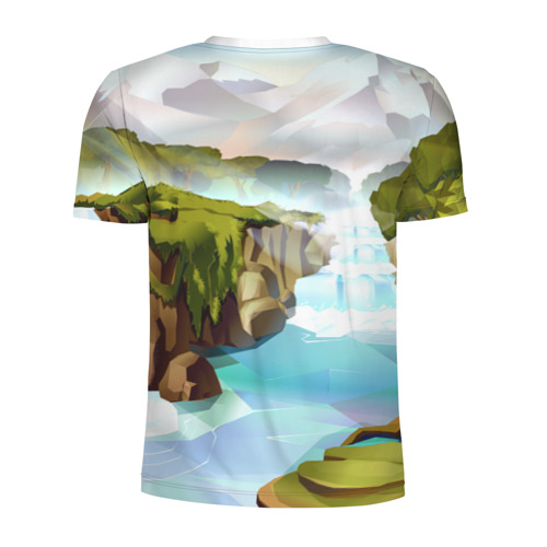 Мужская футболка 3D спортивная  Фото 02, Горная река