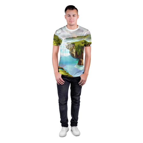 Мужская футболка 3D спортивная  Фото 04, Горная река