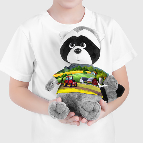 Енотик в футболке 3D  Фото 04, Farm