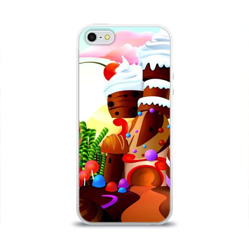Чехол для Apple iPhone 5/5S силиконовый глянцевый  Фото 01, Candy Town