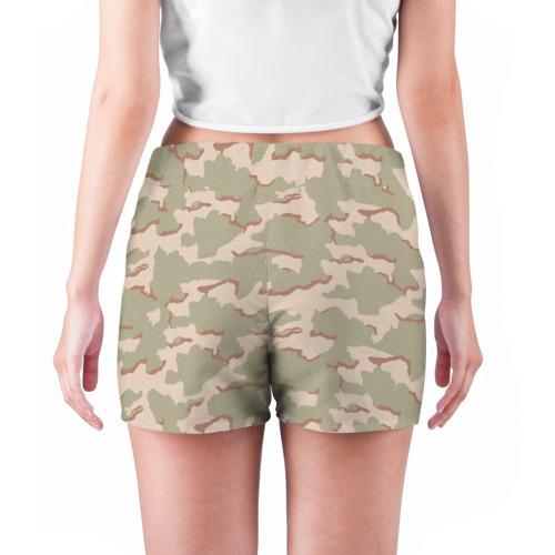 Женские шорты 3D  Фото 04, Камуфляж пустынный 3х цветный