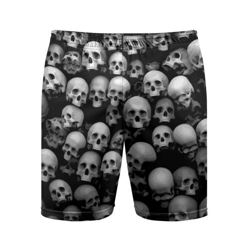 Мужские шорты 3D спортивные Черепа