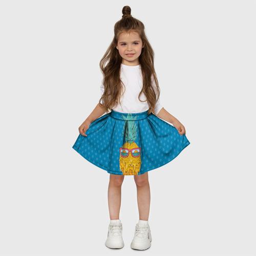 Детская юбка-солнце 3D  Фото 03, Ананасовое лето