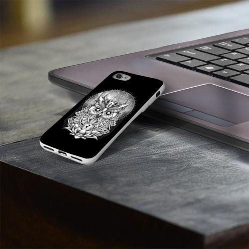 Чехол для Apple iPhone 8 силиконовый глянцевый  Фото 03, Королевская сова
