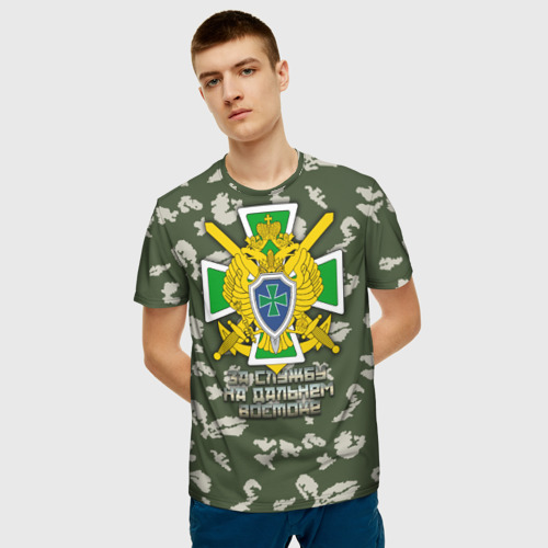 Мужская футболка 3D За службу на Дальнем Востоке Фото 01