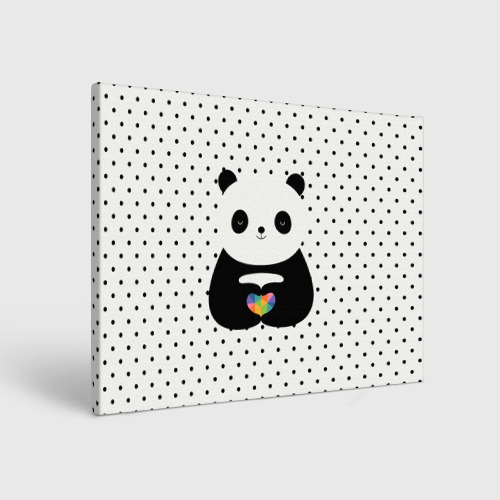 Холст прямоугольный  Фото 01, Любовь панды