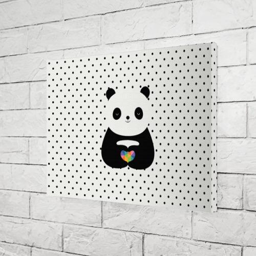 Холст прямоугольный  Фото 03, Любовь панды
