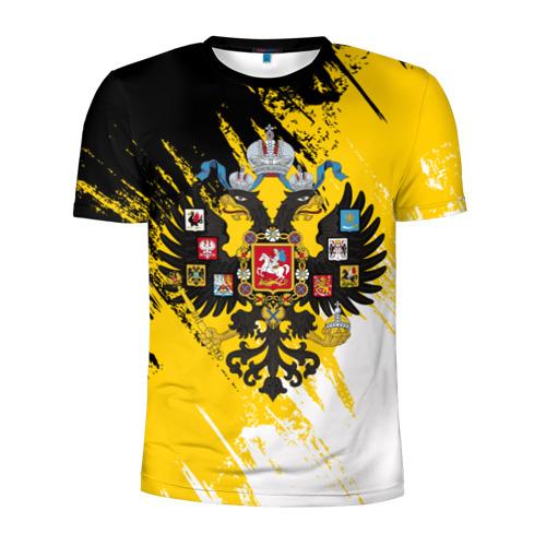 Мужская футболка 3D спортивная Имперский флаг и герб