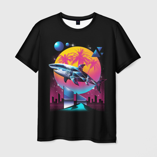 Мужская футболка 3D  Фото 01, Ретро акула