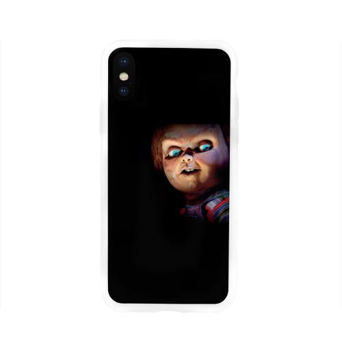 Чехол для Apple iPhone X силиконовый глянцевый  Фото 01, Кукла Чаки