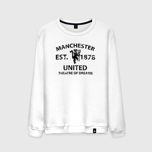 Мужской свитшот хлопок  Фото 01, Manchester United - Est.1878 (Чёрный)