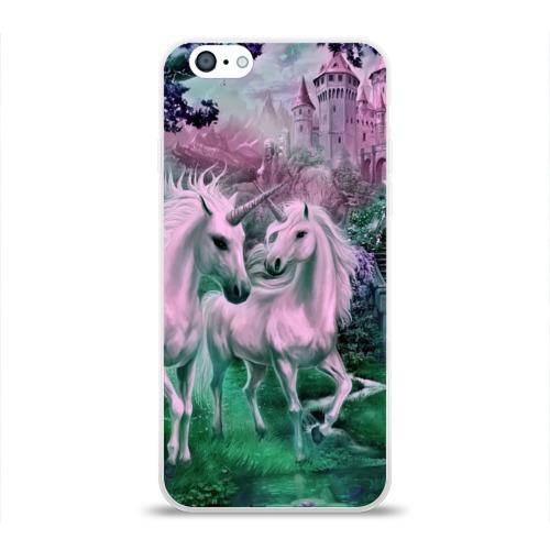 Чехол для Apple iPhone 6 силиконовый глянцевый  Фото 01, Единорог