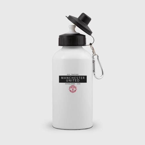 Бутылка спортивная Manchester United - Established 1878 (чёрный)