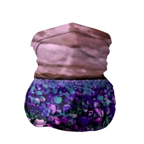 Бандана-труба 3D  Фото 01, Поле тюльпанов