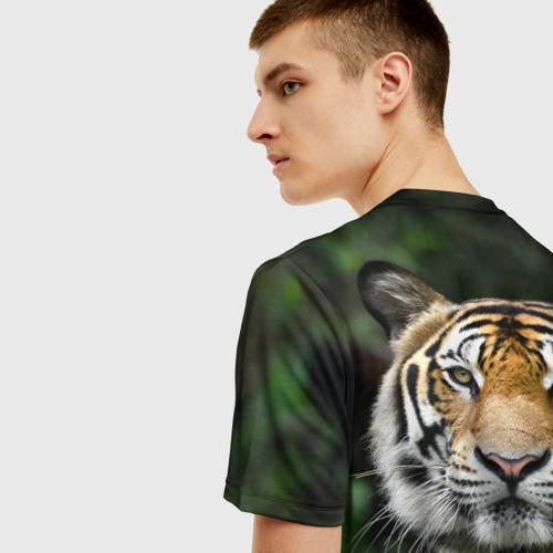Мужская футболка 3D Тигр в джунглях Фото 01